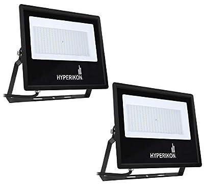 Hyperikon 300W LED Flood Light, (1250 Watt Equivalent), 5000K, 100-277v, ETL, DLC, 2 Pack