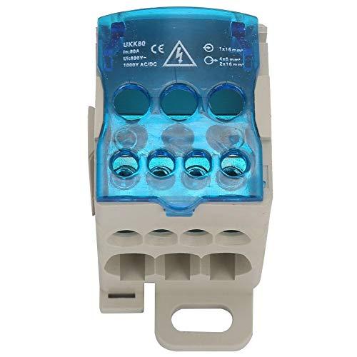 UKK-80A Scatola di Distribuzione a Binario a Blocco Scatola Morsettiera a Binario DIN Connettore Elettrico Cavo Universale Scatola di Giunzione