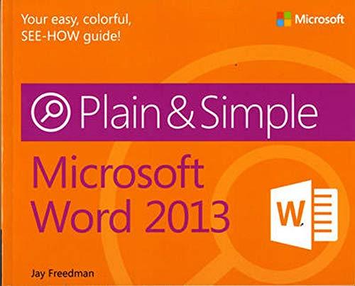 Microsoft Word 2013 Plain & Simple
