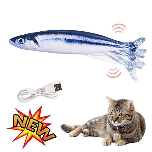 Yunhigh-uk Nuevo Juguete pez Catnip eléctrico USB