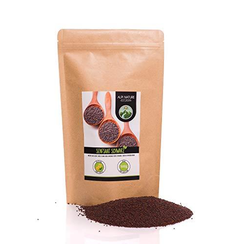 Senfkörner (500g), Senfsaat schwarz und braun 100% naturrein, schonend getrocknet, Senfsamen natürlich ohne Zusätze