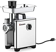 Kitchener Pro Electric Meat Grinder & Sausage Stuffer #8 1/2 HP Aluminum Body Heavy Duty 240 LBS Per/Hr 370 Watts Stainless Steel Cutlery Feeding Tray & Neck