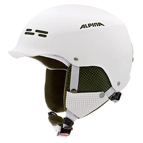 Alpina Spam Cap Junior Skihelm (Kopfumfang: 50-54 cm, 24 weiß matt)