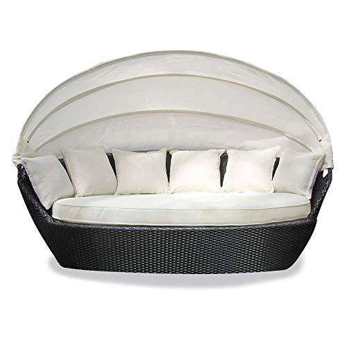 Tenzo-R 33925 Sonneninsel Garten Lounge Polyrattan mit Baldachin Sitzpolster und 6 Kissen*
