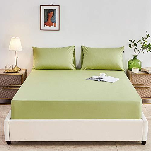 DSman Colchón Antiácaros de Espuma de para Cama Microfibra Sábana de algodón Puro de una Sola Pieza de Color Puro-Fruit Green_180 * 200cm