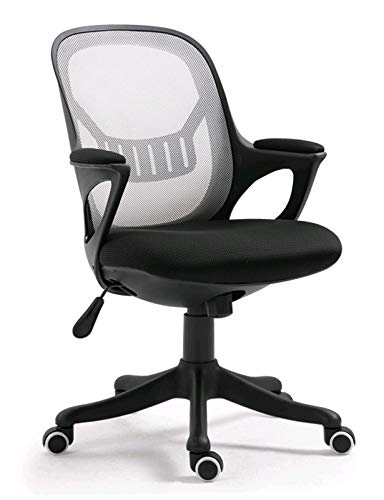 Height Adjustable Office Mid Back Swivel Lumbar Support Desk Chair Swivel Home Comfort Gaming Chairs with Skin-Friendly Mesh for Adults and Kids