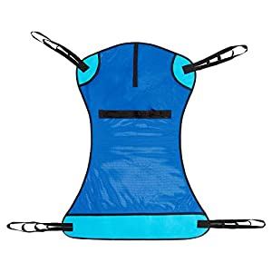 Vive Patient Lift Sling - Transfer Blanket for Bed Positioning and Lifting - Large Medical Device for Bariatric, Nursing, Caregiver, Elderly, Disabled, Full Body and Bedridden - Mesh with Handles