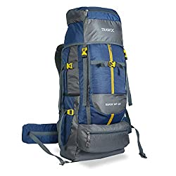 TRAWOC 60 L Travel Backpack for Outdoor Sport Camp Hiking Trekking Bag Camping Rucksack SHK012 1 Year Warranty (Navy Blue),TRAWOC