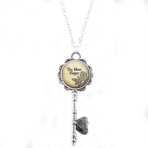 qws Anne Boleyn Motto The Most Happy- Henry VIII - Wife of Henry VIII - Anne Boleyn Key Necklace