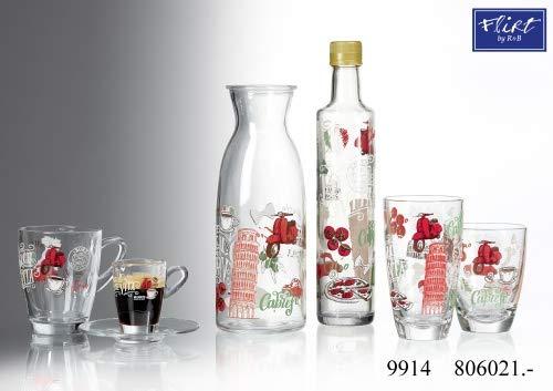 Flirt by R&B Glas-Serie Palermo Größe Wasserkaraffe 1 Liter Palermo
