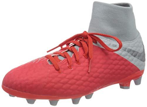 Nike JR Hypervenom 3 ACAD DF AG-Pro, Zapatillas de Fútbol Unisex Niños, Rojo (Rot/Gr Rot/Gr), 38 EU