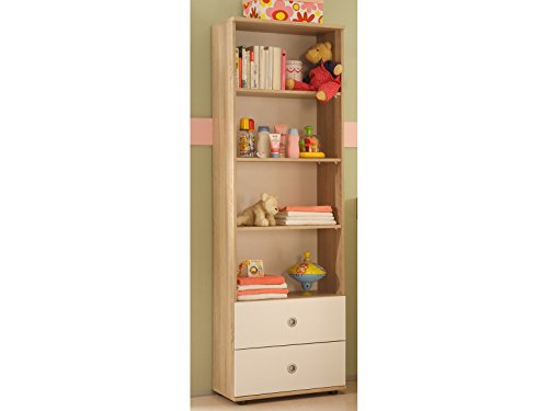 möbelando Regal Kinderzimmerregal Standregal Wickelregal Holzregal Babyzimmer Floris I