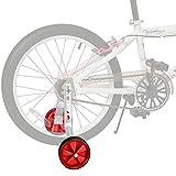 JUEYAN® 1 Par Ruedines para Bicicleta Infantil Universal Seguridad ruedines para Equilibrio de Bicicleta Estabilizador Ajustable de Ruedas Laterales de Entrenamiento para Niños,12–20 Pulgadas,Rojos
