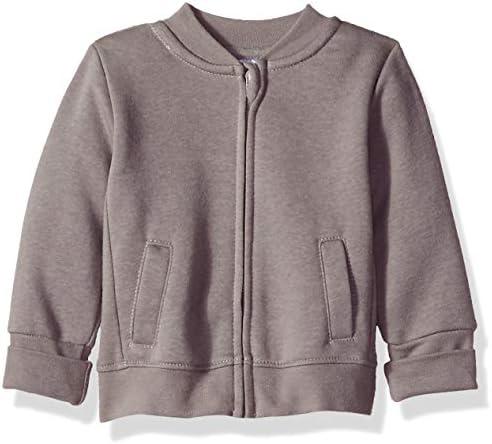 Hanes unisex baby Ultimate Zippin Fleece Jacket Sweater Dark Grey 6 12 Months US product image