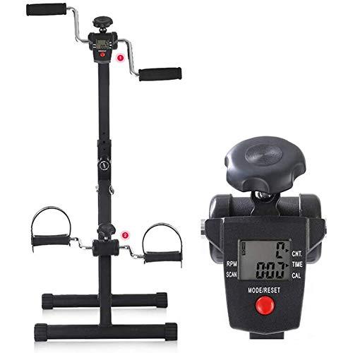 Massage-AED Mini Bicicleta Estática Pedales con Pantalla LCD Multifuncional, Mini Brazo, Pierna, Bicicleta De Ejercicio, Pie, Mano, Bicicleta, Máquina Ambulante Estacionaria Portátil