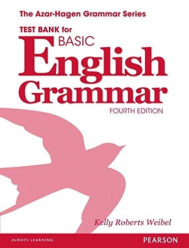 Basic English Grammar Test Bank