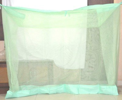 shahji creation Mosquito Net for Single Bed 3 * 6 (Light Green)