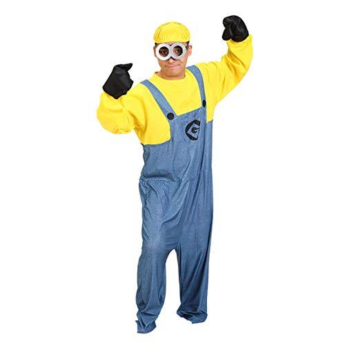 Mitef Mi Villano Favorito Yellow Men Costume Mini Corps Halloween Cosplay Disfraz De Minion para Mujer Niña Niño Hombre