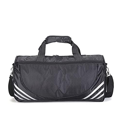Bolsa deportiva para gimnasio, bolsa de deporte, compartimento para zapatos, bolsa de tocador, bolsa de viaje, bolsa de deporte, correa de hombro, para natación, fútbol, baloncesto, tenis, equipaje