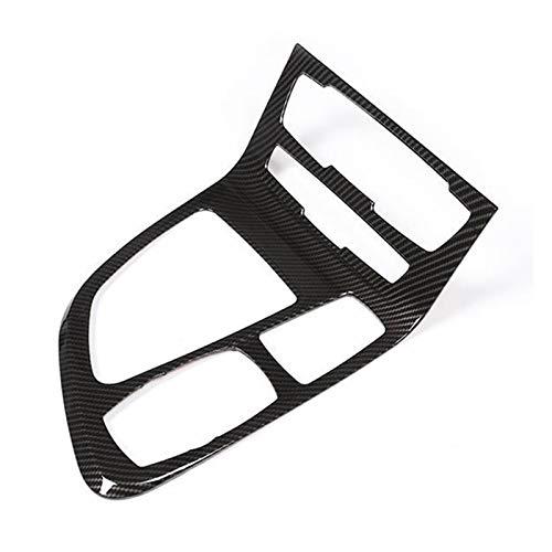 Hermoso Coche de Fibra de Carbono ABS Chrome Center Console Cubierta Cubierta Cubierta Forma para BMW 218I Gran Tourer F45 F46 2015-2018 (Color : Carbon Fiber Pattern)