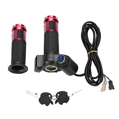 MAGT Aceleradores Bicicleta, 4 Colores de Bicicleta eléctrica Acelerador Giratorio Grip, Bicicleta eléctrica de la Vespa Media torsión de la muñeca del puño del Acelerador de la manija