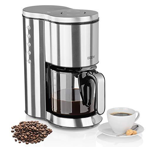 BEEM Filterkaffeemaschine Edelstahl,1,25 l Glaskanne,1250 W,Transparent