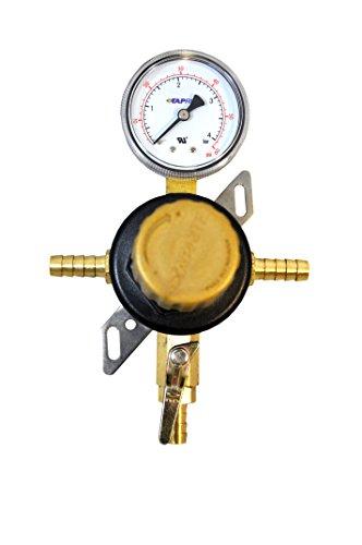 1-Way Secondary Air Regulator - Polycarbonate Bonnet: 1 Hose Barb x 1 Plug