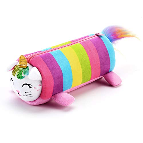 SuperStyle Cute Pencil Case, Pencil Pouch for Girls, Soft Plush Pencil Pouch, Girls Cosmetic Pouch Bag, Stationery Organizer, Zipper Pouch, Pencil Holder Bag, School Office Accessories for Teens Kids