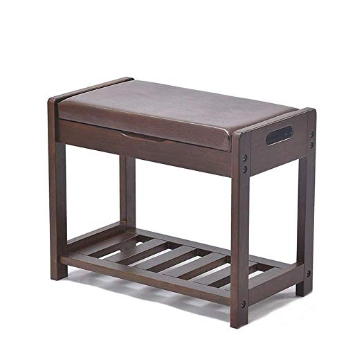 ShiSyan Bastidores de madera de zapatos Ascensor hasta zapatos de banco de almacenamiento con amortiguador de asiento de ahorro de espacio Fácil Ensamble (Color: Marrón, Tamaño: 54x30x44cm) Armarios p