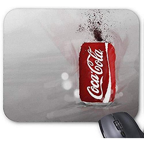SHENGXING Tappetino per Mouse Antiscivolo con Stampa Mocaepad Coca Cola Tappetino per Mouse Antiscivolo da 18 X 22 Cm Mousepad