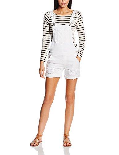 ONLY Damen Onlnew Kim Witty DNM OVERALLSHORTCRE1043 Jeanshose, Weiß (White), 38