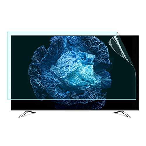 JANEFLY TV Screen Protector Matte Beschermende Film, Blokkeert Overmatig Schadelijk Blauw Licht, Oogbescherming Anti-Bijziendheid voor LCD/LED/OLED & QLED 4K HDTV, Gemakkelijk te gebruiken
