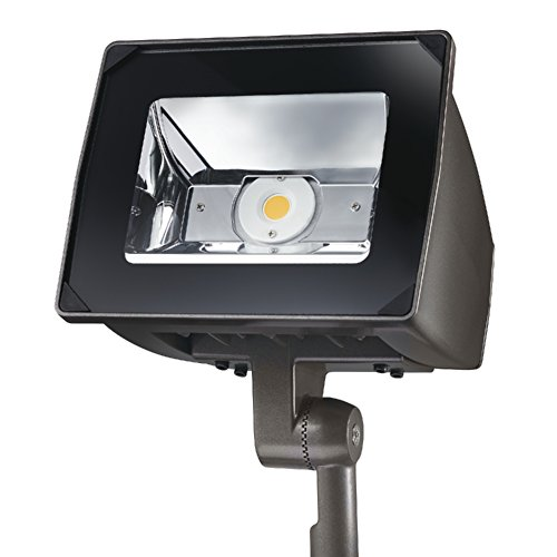 Lumark NFFLD-S-C15-KNC-UNV Night Falcon 51W Carbon Outdoor Integrated LED Area Light with Knuckle Mounting, Bronze
