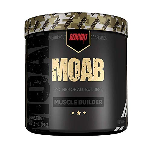 Redcon1 - Moab - Muscle Builder, 30 Servings, Lean Gains, Faster Recovery, HMB, Epicatechin (Unflavored)