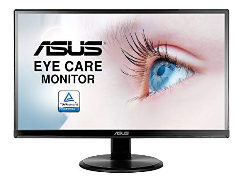 "Asus VA229HR 21.5"" Monitor Frameless 1080P 75Hz IPS Eye Care HDMI VGA with 178° Wide Viewing Angle,Black"