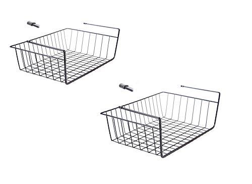 Un juego de dos piezas,canasta de almacenamiento de metal,altura 10 cm,canasta de almacenamiento,se puede colocar en el armario de la cocina,trastero, escritorio, armario, baño