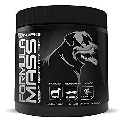 Formula Mass Weight Gainer for Dogs Made in The USA - Helps Increase Weight & Adds Mass on Skinny Dogs