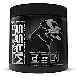 MVP K9 Formula Mass Weight Gainer for Dogs - Helps Promote Healthy Weight Gain, Size and Muscle in Dogs - Great for Skinny, Underweight, Picky Eaters. All Breed Formula,