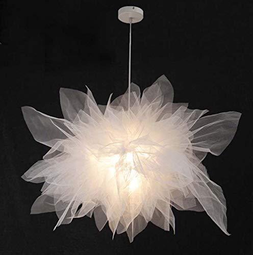 Sebasty Candelabro nórdico para dormitorio, cama y desayuno, romántico, minimalista, moderno, para habitación de los niños, lámpara de araña creativa de malla de 68 cm, 45 cm (tamaño: 45 cm)