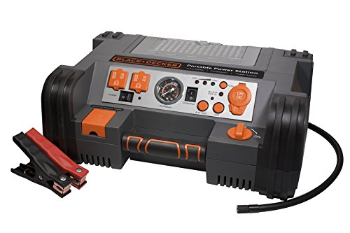 Black & Decker Black 1000 Peak Amp Decker PPRH5B Professional Power Station with 120psi Air Compressor