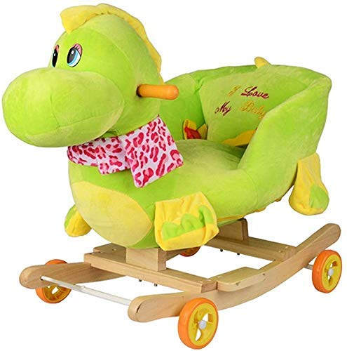 Sofa Children's Rocking Horse Trojan Small Dual-purpose Children's Rocking Chair kan schuiven Knuffels Lostgaming