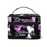 Make-up-Tasche, schöne Snoopy Reise-Kosmetiktasche, große Tasche, Mesh-Pinsel-Organizer,...