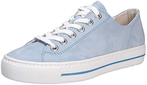 Paul Green Damen Sneaker Fresh Nubuk blau Gr. 37½