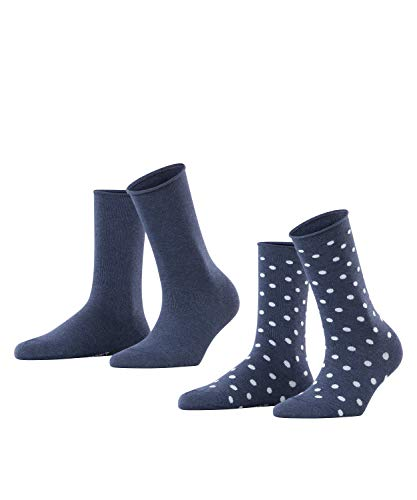 ESPRIT Damen Dot 2-Pack Socken, blau (marine 6120), 39-42 (2er Pack)