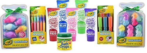 Bath Time Art Bundle with Dropz Fizzies Crayons Markers and Fingerpaint Soap