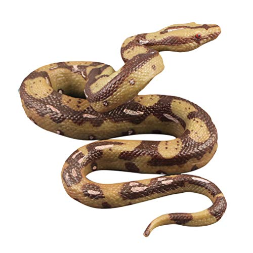 STOBOK Juguete de Serpiente Realista Figura de Serpiente de Goma Juguete de bromaFavores de Fiesta de Halloween