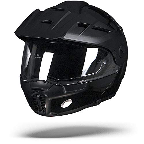 Schuberth cascos E1 brillante negro XL Negro brillante