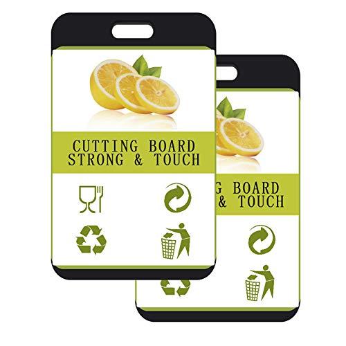 Kunststoff Schneidebrett mit Saftrillen und rutschfeste Griffe,Antibakteriell,Spülmaschinenfest,Kann für Fisch,Fleisch,Gemüse,Obst,BPA Frei(2Pack)