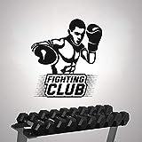 AGiuoo Boxer Altalena Sinistra Fight Club Wall Art Sticker Boxe Ring Decorazione da Parete con Colori Personalizzati 81x88cm