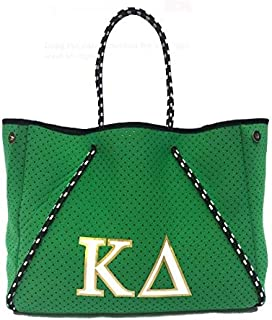 Kappa Delta KD Sorority Fraternity Neoprene Tote Bags Purses Totes Fall School Overnight Gym Studio Office Travel Beach Mo...